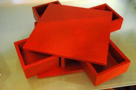 Boîte magique rouge